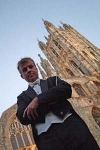 Richard Cooke conducting at Canterbury Cathedral