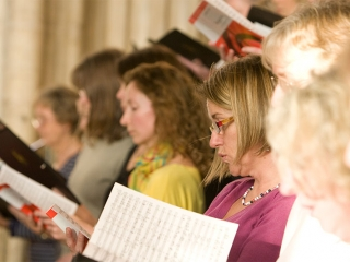 Concert day rehearsal in Canterbury Cathedral