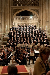 Canterbury Choral Society and part of orchestra