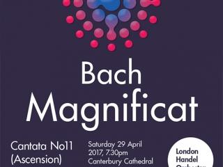 Bach Magnificat Canterbury Choral Society poster