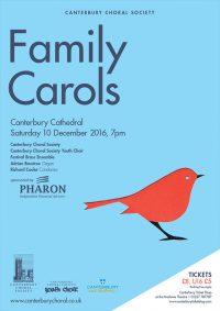 Family Carols Canterbury Choral Society poster