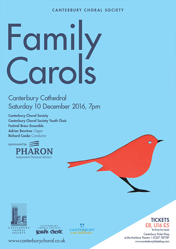 Family Carols Canterbury Choral Society poster