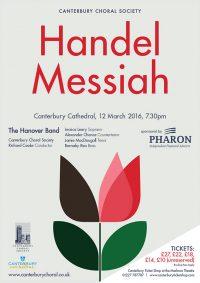 Handel Messiah Canterbury Choral Society poster
