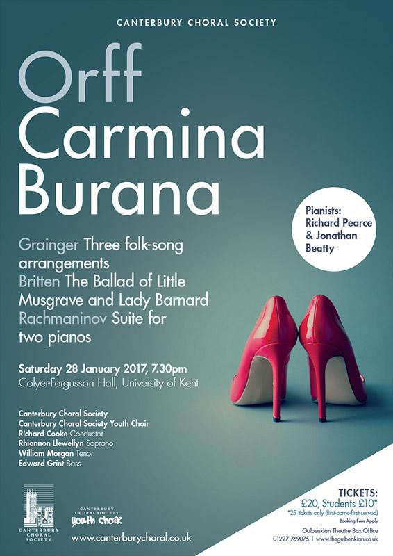 Orff Carmina Burana Canterbury Choral Society poster