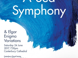 Vaughan Williams Sea Symphony Canterbury Choral Society poster