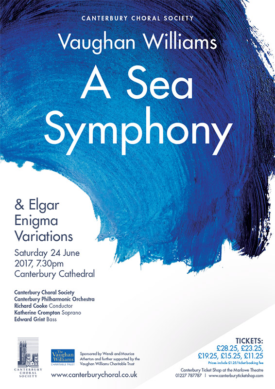 Vaughan Williams Sea Symphony Canterbury Choral Society poster