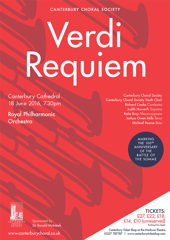 Verdi Requiem Canterbury Choral Society poster
