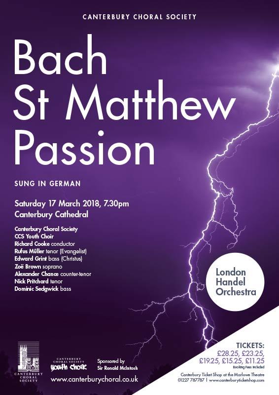 CCS posters St Matthew Passion