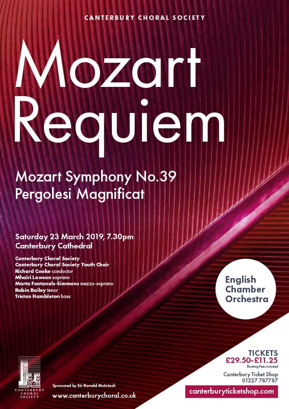 Mozart Requiem poster by Canterbury Choral Society