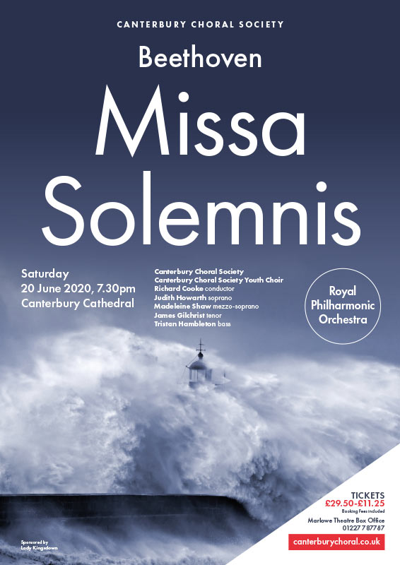 Canterbury Choral Society poster Beethoven Missa Solemnis